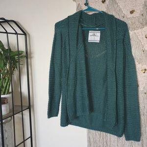O'Neill green 'grandma' style cardigan